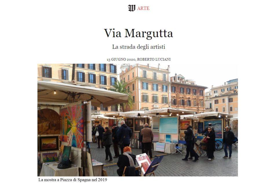 Wall Street Intenational Magazine Via Margutta La strada degli artisti di ROBERTO LUCIANI