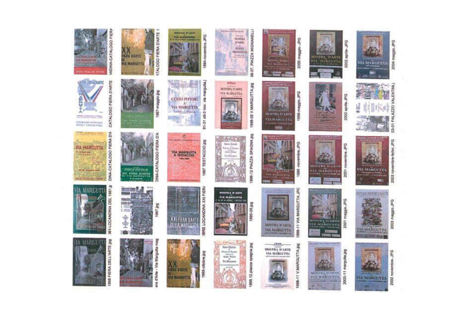 Locandine delle Mostre del'Associazione Cento Pittori Via Margutta dal 1958 ad oggi